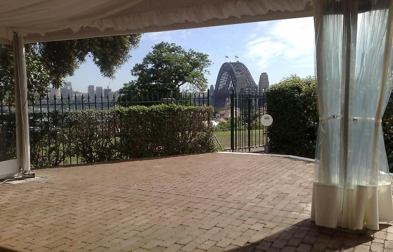 Views from inside Sydney Observatory Marquee